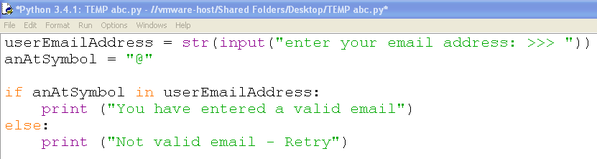 Validating email address in python what is the main